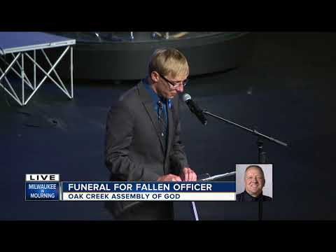 Fallen officer's son speaks at funeral