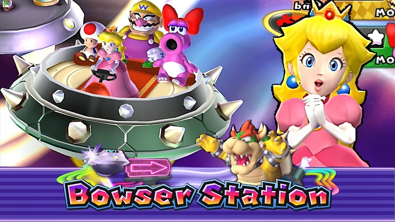 Mario Party 9 Bowser Station Peach 3 Youtube