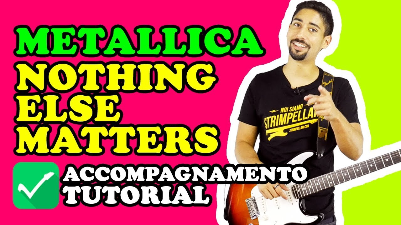Tappeto Musicale Jump& Tutorial Chitarra Nothing Else Matters Metallica Accompagnamento Completo