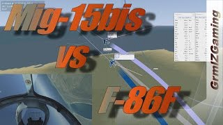 DCS - Mig-15bis vs F-86F Sabre // Comparison and Energy Fighting