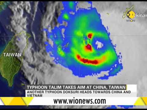 Typhoon Talim turns to Taiwan, China