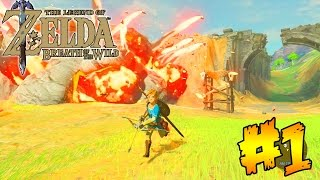 "LEGEND OF ZELDA ""BREATH OF THE WILD"" FULL GAMEPLAY WALKTHROUGH (PART 1)"