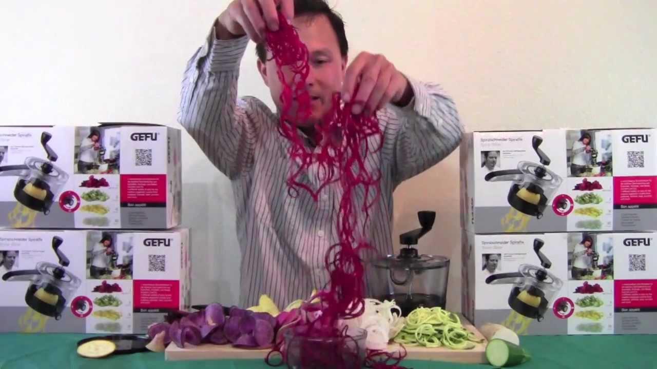 Best Spiral Vegetable Slicer That Makes Raw Food Pasta   The SpiralFix    YouTube
