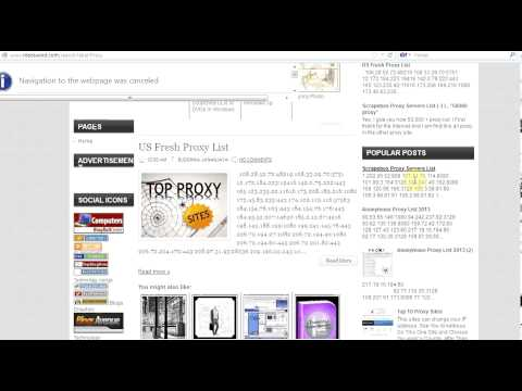 100,000 New Proxy List For Free - YouTube
