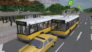 Omsi 2 tour (1584) 德國 Berlin linie 107 Spandau Friedhof - Maxim-Kolbe Str @ Solaris Urbino 12