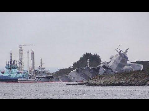 Фрегат ВМС Норвегии «Хельге Ингстад» после учений НАТО «Единый Тризуб»