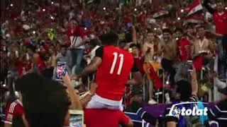 أحتفال عصام الحضري وكهربا ومؤمن بالتأهل لكأس العالم 2018