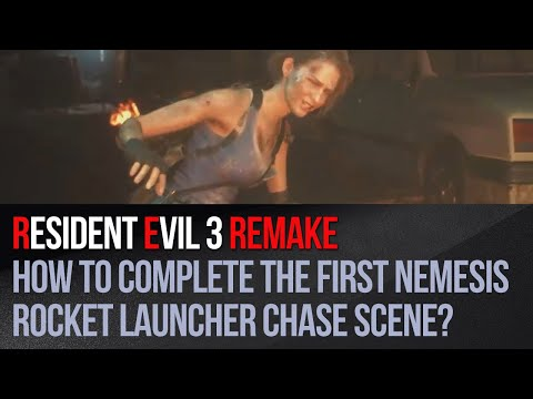 Resident Evil 3 Remake - How to complete the first Nemesis rocket launcher chase scene?