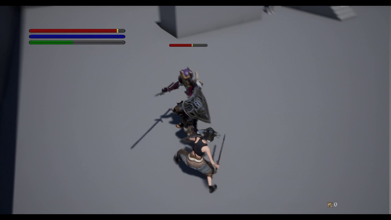 unreal engine 4 - combat system (dark souls)