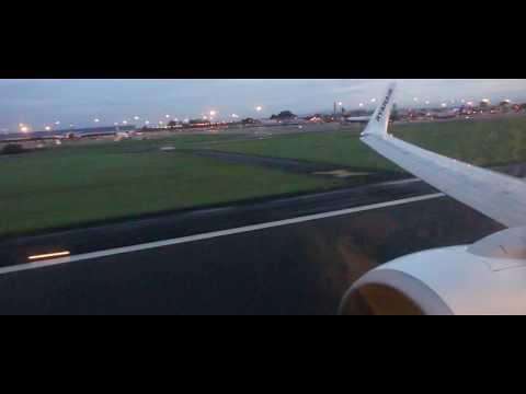 Dusk Departure from Belfast International Airport
