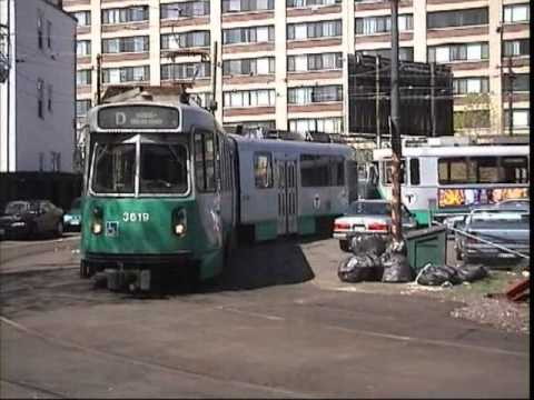 Boston MBTA Green Line April 1999 - YouTube