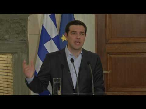 Donald Tusk - Alexis Tsipras joint press conference in Athens