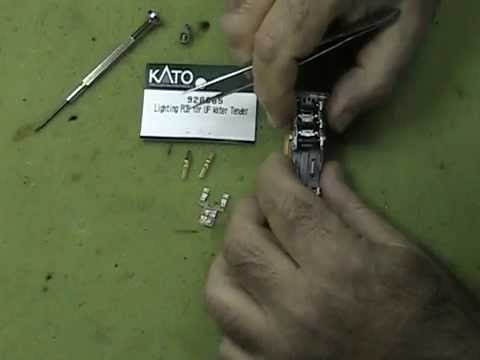 TopHobbyTrains Kato FEF Water Tender Light Kit Installation