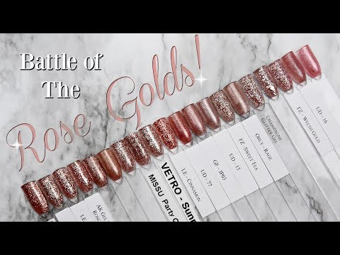 Battle of the ROSE GOLDS! | Gel Nail Products