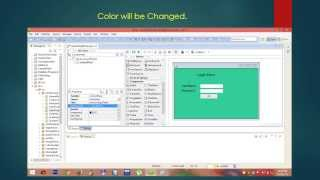 Gui Using Drag And Drop Tool (graphical User Interface) In Java
