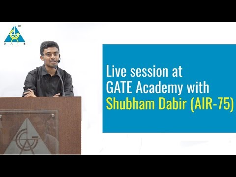 Live session at GATE Academy with Shubham Dabir (AIR-75)