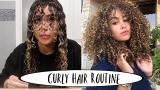 FULL CURLY HAIR ROUTINE - TALA OTHMAN