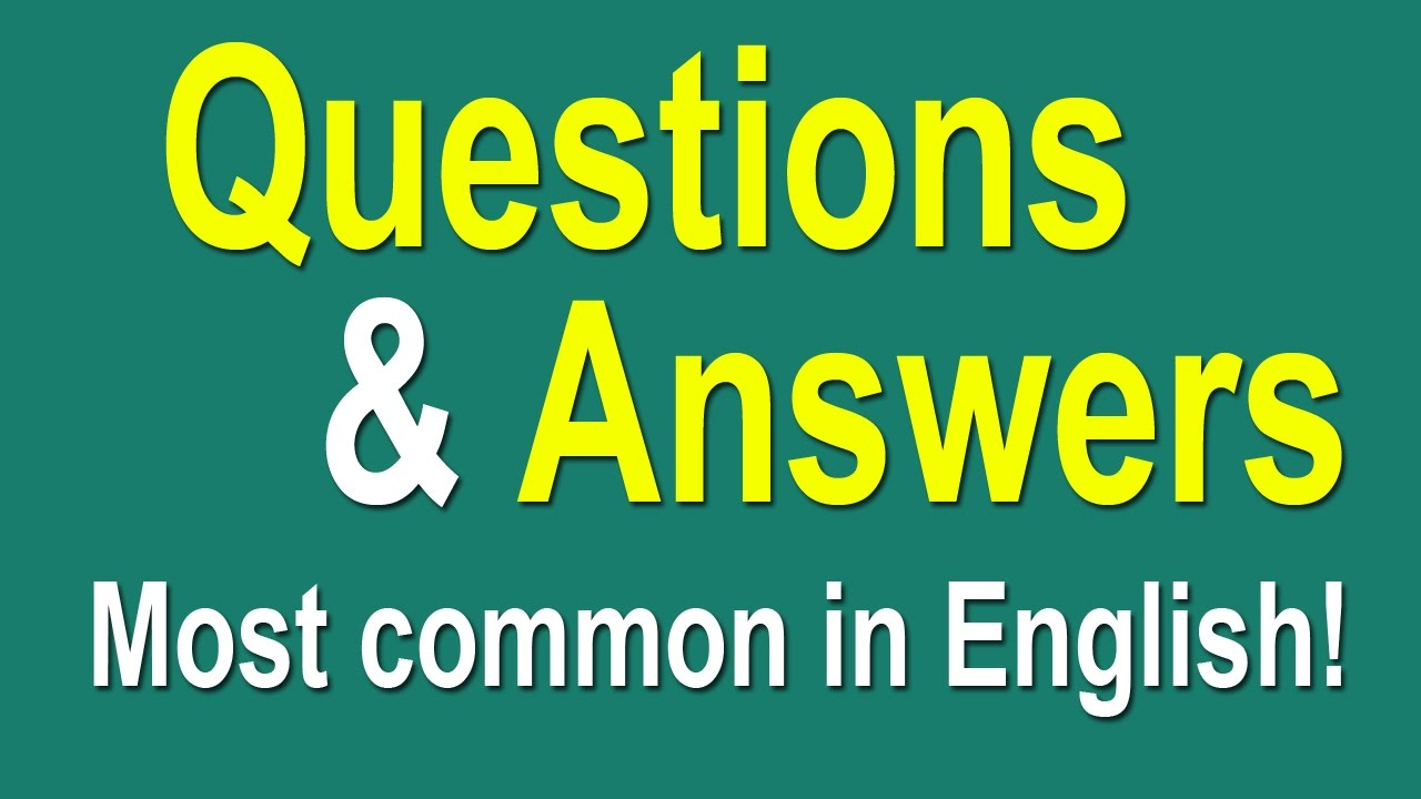 medium resolution of English Speaking Practice - Most Common Questions and Answers in English -  YouTube