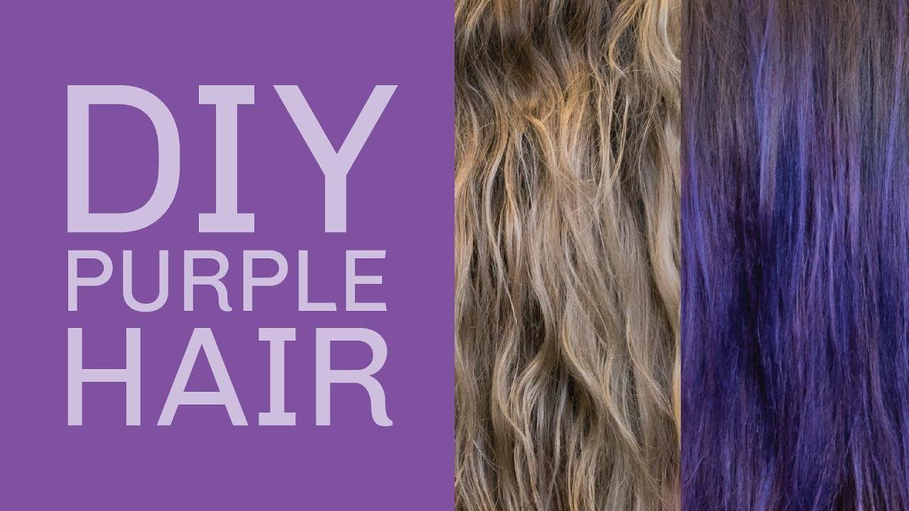 OVertone Vibrant Purple Deep Treatment On Medium Blonde