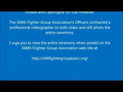 366th TFW Vietnam Memorial Dedication
