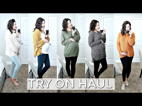 MATERNITY TRY-ON HAUL! | American Eagle & H&M