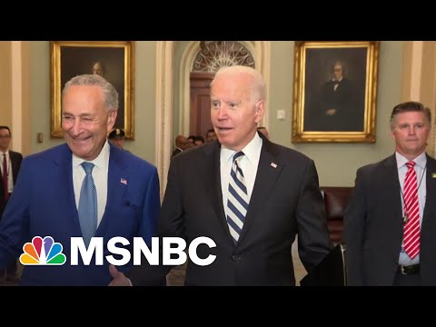 We Can Get This Done: Biden Joins Senate Dems To Discuss Spending Plan