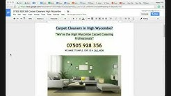 Carpet Cleaners in High Wycombe 07505 928 356