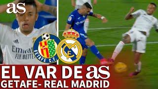 EL VAR DE AS | GETAFE - REAL MADRID | El fuera de juego que trazó el VAR y el penalti de Militao| AS