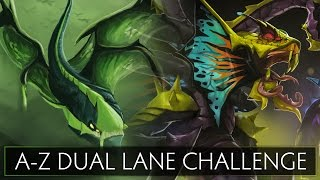 Dota 2 A-Z Dual Lane Challenge - Venomancer and Viper