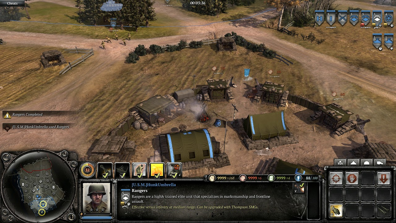 company of heroes cheat codes
