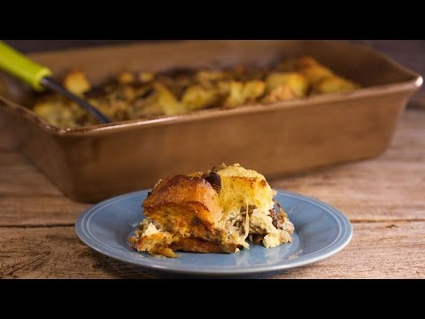 A Savory Twist On Holiday Bread Pudding