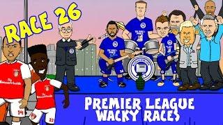 🚦RACE 26🚦 Premier League Wacky Races! (Arsenal 2-1 Leicester City Highlights)