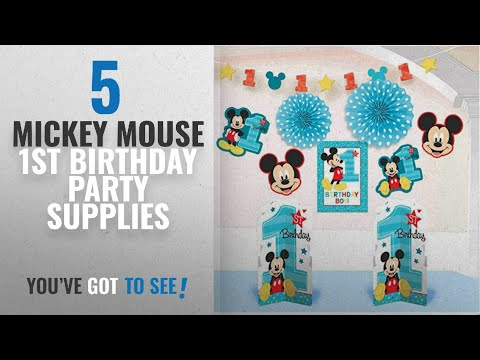 Top 10 Mickey Mouse 1St Birthday Party Supplies [2018]: Mickey Mouse 1st Birthday Room Decorating