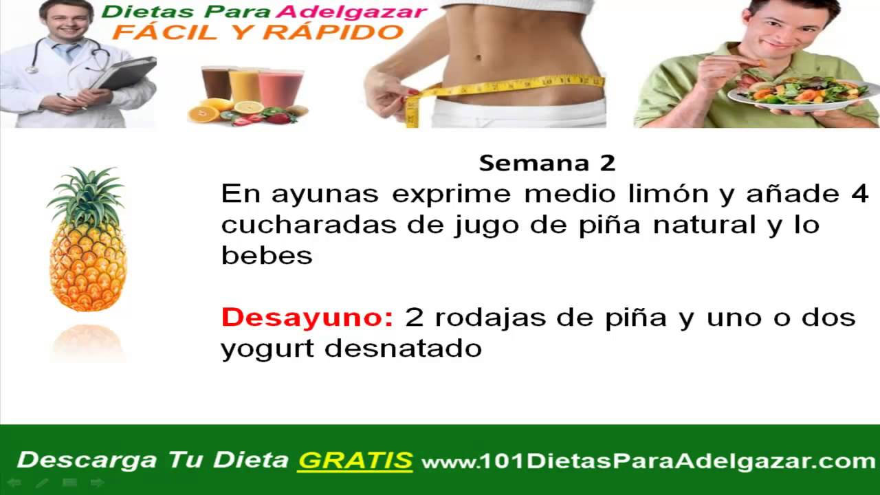 Dietas para bajar de peso rapido y seguro sin rebote al