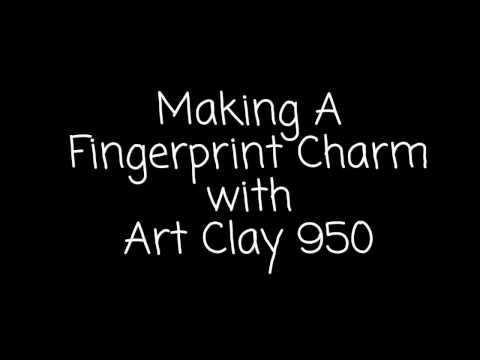 How To Make A Fingerprint Charm with Art Clay 950 Sterling Silver Clay