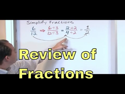 02 - Review of Fractions in Algebra