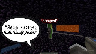 dream ESCAPES the PRISON (disappears) on dream smp (WEIRD STREAM)