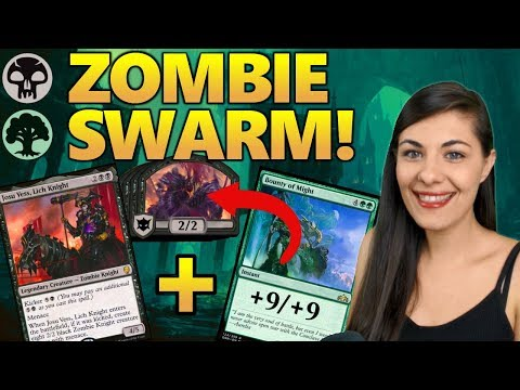 MIGHTY ZOMBIE TOKEN SWARM - MTG Arena Deck Guides