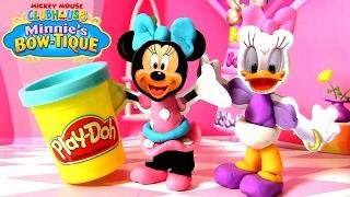 Massinhas CLAY BUDDIES Minnie Loja de Laços usando Play Doh Disney Casa do Mickey Mouse em Portugues