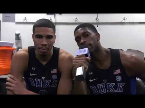 DBP: Amile Jefferson and Jayson Tatum after the ACCT win over UNC