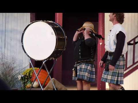 Tartan Terrors Pete on the bass drum
