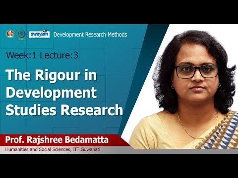 Lec 3: The Rigour In Development Studies Research