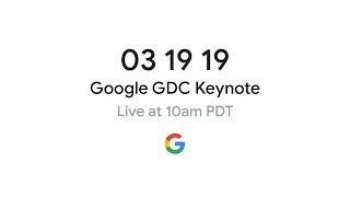 Stadia GDC 2019 Announcement