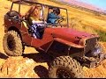 rc Willys Jeep  - scale rock crawler - Quarry Hills trail run