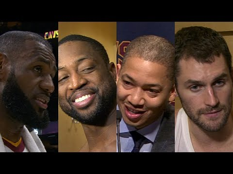 Cavaliers postgame after win vs. Clippers [LeBron James, Dwyane Wade, Tyronn Lue, Kevin Love]   ESPN