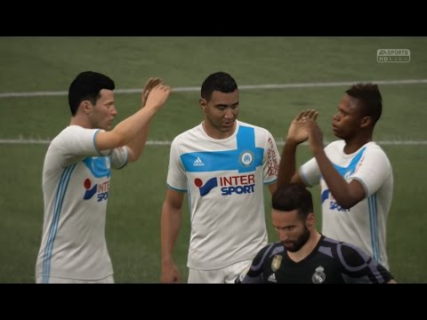 Olympique de Marseille vs Real Madrid Fifa 17 Difficulté Légende Gameplay PC