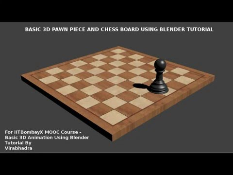 Basic Blender 3d Chess Pawn and Chesboard Tutorial