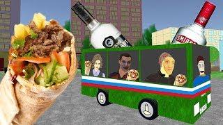 Rosyjska Impreza w autobusie i miłośnicy kebaba