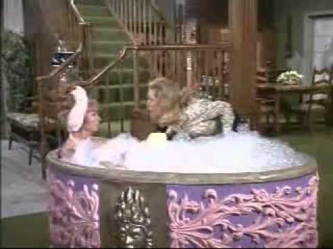 Agnes Moorehead taking a bubble bath...