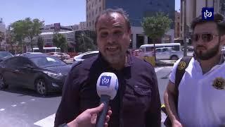 """طلبة """"الأردنية"""" يعبرون عن استيائهم من عقبات عبور الطريق العام المحاذي للجامعة (20-6-2019)"""